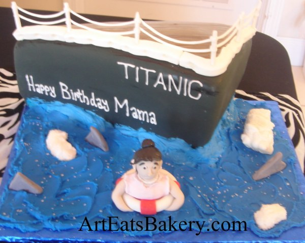 Titanic Birthday Cake Toppers