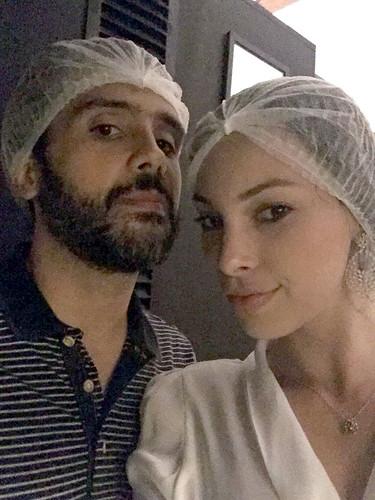 Ana Paula e João Paulo, conhecendo a cozinha do Ró