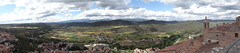 View from the Parador de Cardona toward the Pyrenees