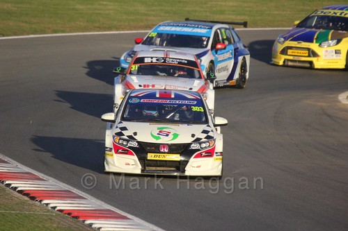 Matt Simpson, Jack Goff and James Cole during the BTCC Brands Hatch Finale Weekend October 2016