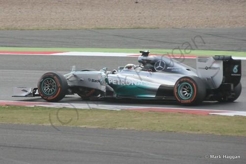Lewis Hamilton in his Mercedes during the 2014 British Grand Prix