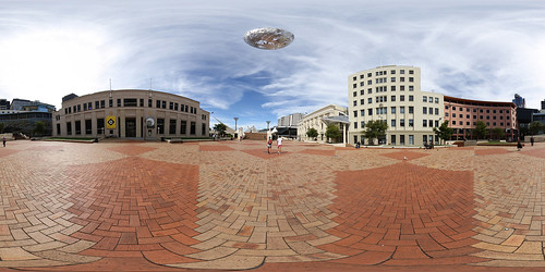 Civic Square Wellington - Panorama