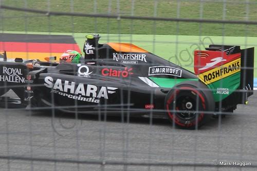 Sergio Perez in the 2014 German Grand Prix