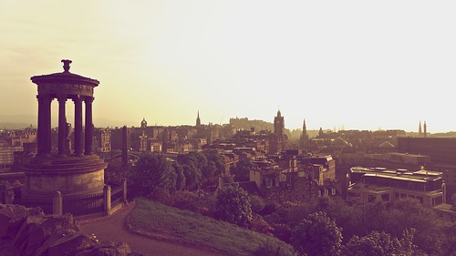 Misty Edinburgh Sunset