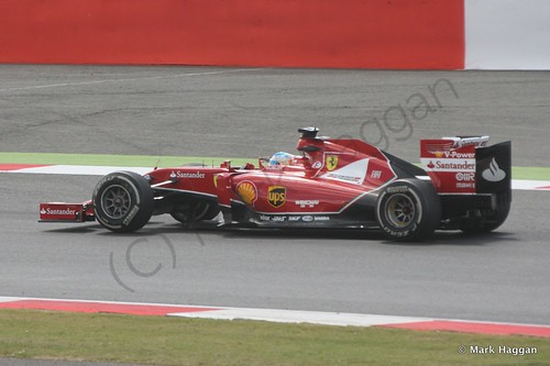 Fernando Alonso in his Ferrari at the 2014 British Grand Prix