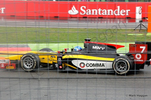 Jolyon Palmer in his DAMS car in the second GP2 race at the 2014 German Grand Prix