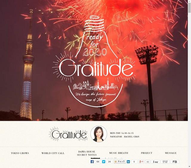 Gratitude :J-WAVE 81.3 FM RADIO-1