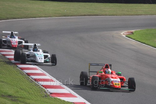 Jack Martin and Billy Monger in British F4 during the BTCC Brands Hatch Finale Weekend October 2016