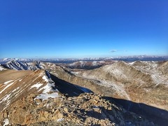 Looking to the west from Mount Lincoln summit.