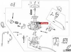 Foto Nr. 1: Derbi Senda 125 Supermoto Vergaser Ersatzteile