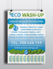 Plakat ECO WASH-UP