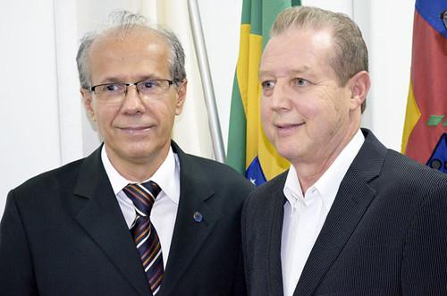 Benedito Pacífico e José Maria Facundes - Inauguração da sede do Sindhorb - Foto Emmanuel Franco