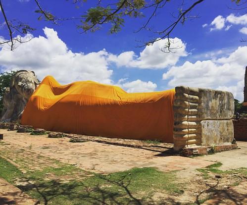 Lying #Buddha  @ #WatLokayasutharam #Ayutthaya #Thailand  #thailoup #traveloup