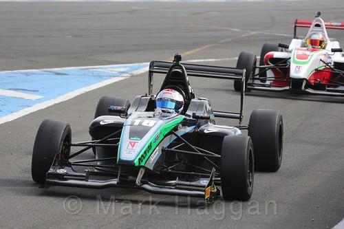 Sean Walkinshaw Racing's Zubair Hoque in BRDC F4 Race Two at Donington Park, September 2015