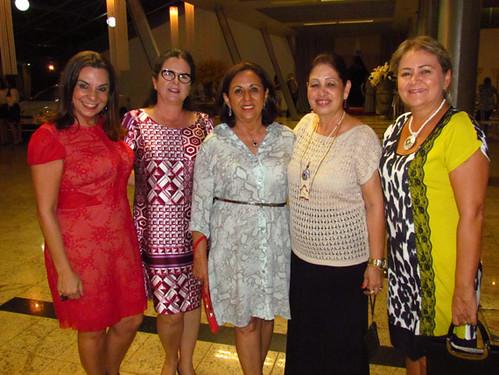 Valéria Souza, Ana Maria Bonfim, Silvana Guimarães, Lelena Almeida e Marlene Damasceno