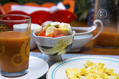 A local Cuban breakfast.