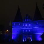 Holstentore in blau