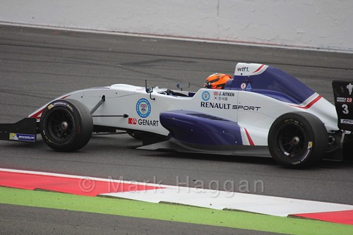 Jack Aitken on the grid for the first Renault 2.0 race at Silverstone 2015
