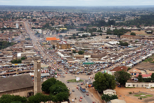 Côte d'Ivoire : Bouaké (du haut de la tour télécoms)