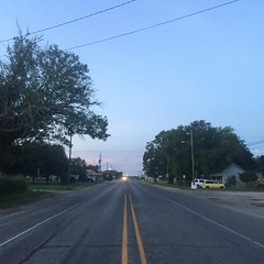 You can't tell from this photo, but the next town isn't for another twenty-two miles. A full day of walking ahead of me. The Road Ahead. Day 156. Main Street in Tivoli, TX. #TheWorldWalk #texas #travel #wwtheroadahead