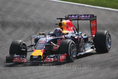 Daniel Ricciardo in qualifying for the 2015 Belgium Grand Prix