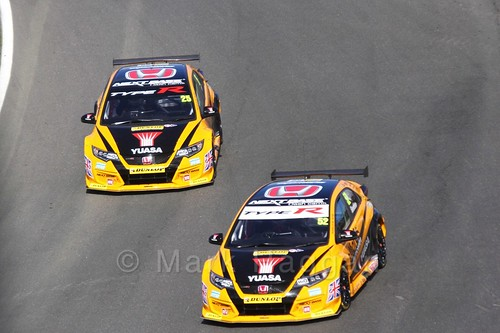 Gordon Shedden and Matt Neal during the BTCC Brands Hatch Finale Weekend October 2016