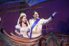 Alison Woods as Ariel and Eric Kunze as Prince Eric in Disney's The Little Mermaid presented by Broadway Sacramento at the Community Center Theater Feb. 2-7, 2016. Photo by Bruce Bennett, courtesy of Theatre Under The Stars.