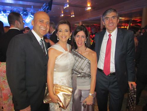 Cassinha e José Carvalho, Maria José e Julian Eguren