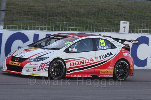 Matt Neal in BTCC at Rockingham 2015