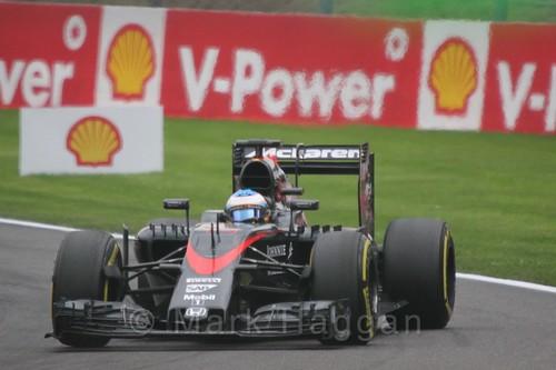 Fernando Alonso in the 2015 Belgium Grand Prix