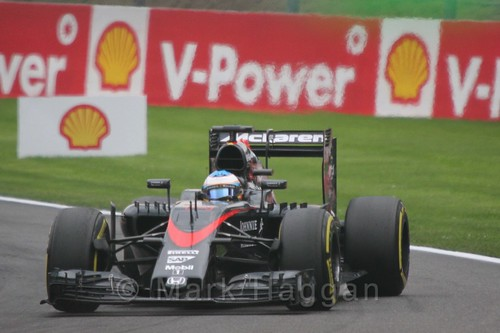 Fernando Alonso in the 2015 Belgium Grand Prix