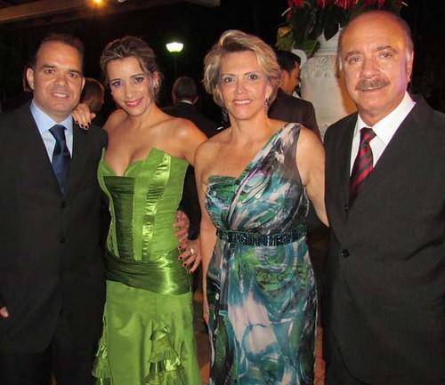 Marci e Clícia, Olga e Matusalém Dias Sampaio