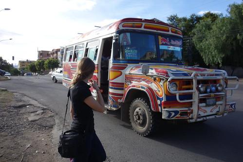 Les microbus sont identifiés par des lettres