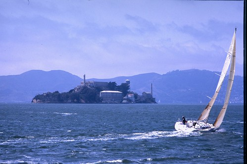 """SF Bay Sailboat and Alcatraz • <a style=""""font-size:0.8em;"""" href=""""http://www.flickr.com/photos/25837035@N05/21200926591/"""" target=""""_blank"""">View on Flickr</a>"""