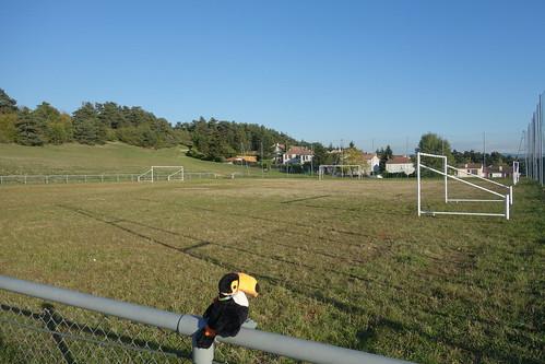 Voici le terrain d'entrainement juste à côté de l'école.