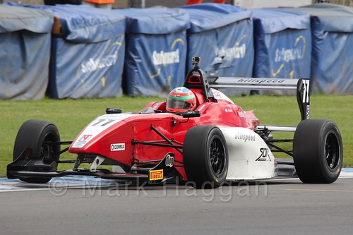 MGR Motorsport's Hernán Fallas in BRDC F4 at Donington Park, September 2015