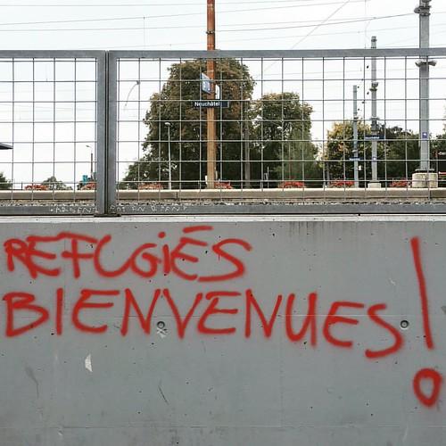 #REFUGEES #BIENVENUES!  @ #Neuchâtel