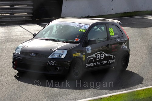Warwick Daden in the Fiesta Junior Championship, Brands Hatch, 2015