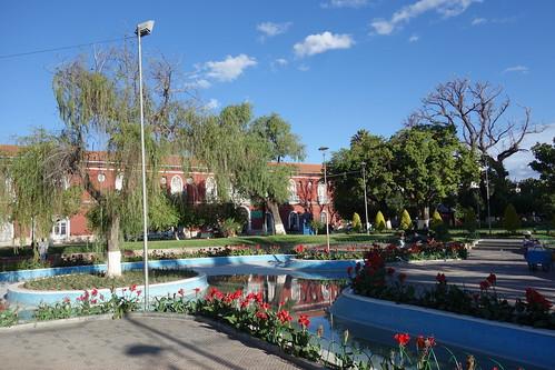 En plein centre-ville, la plaza colon