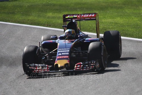 Carlos Sainz Jr in Free Practice 3 at the 2015 Belgian Grand Prix