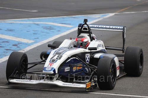 Graham Brunton Racing's Ciaran Haggerty in BRDC F4 at Donington Park, September 2015