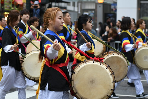 Korean Americans celebrating their heritage during the 36th Korean Day Parade in New York City on Oct. 1st 2016. The parade is an annual event on the first Saturday of October.
