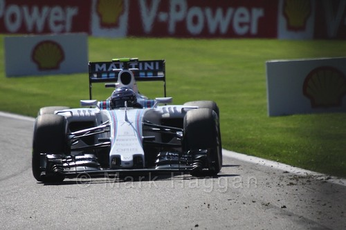 Valtteri Bottas in Free Practice 1 for the 2015 Belgium Grand Prix