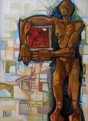 Scala inquadrata, olio su tela, 50×70, 2005