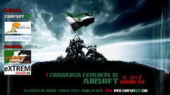 Cartel Evento Airsoft Campamento Colaboradores