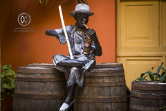 A statue in the Havana Club distillery.