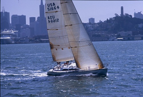 """SF Bay Sailboat • <a style=""""font-size:0.8em;"""" href=""""http://www.flickr.com/photos/25837035@N05/21004921180/"""" target=""""_blank"""">View on Flickr</a>"""