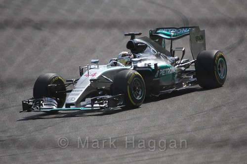 Lewis Hamilton in the 2015 Belgium Grand Prix