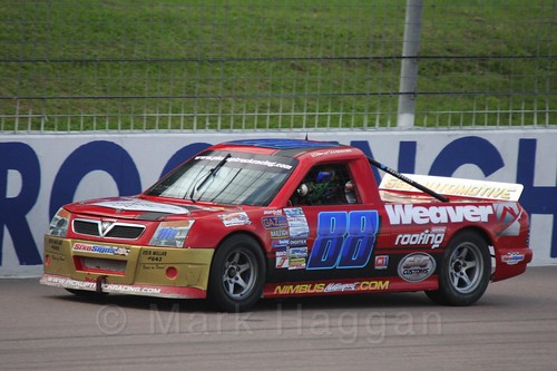 Dave Weaver in Pick Up Truck Racing, Rockingham, Sept 2015