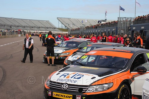 On the grid at the BTCC weekend at Rockingham, September 2015